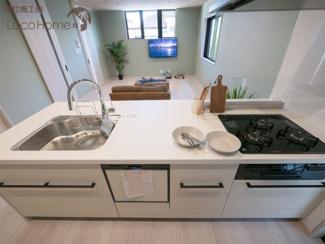 同社施工例 使いやすい広々としたキッチンで毎日のお料理が楽しくなります♪