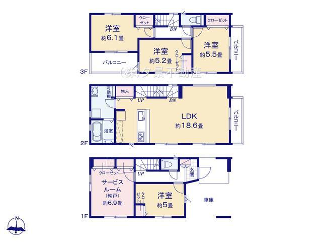 さいたま市大宮区大成町2丁目128(2号棟)新築一戸建てケイアイスタイル