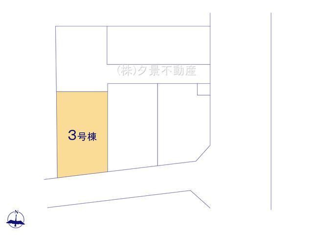 【区画図】さいたま市大宮区大成町2丁目128(3号棟)新築一戸建てケイアイスタイル