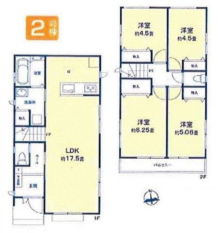 【区画図】立川市幸町5丁目 新築戸建全2棟