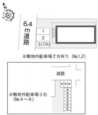 【区画図】レオパレスブランシェ海老名Ⅲ