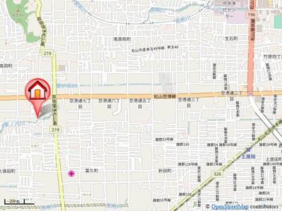 【地図】ソレーユ高岡 C棟