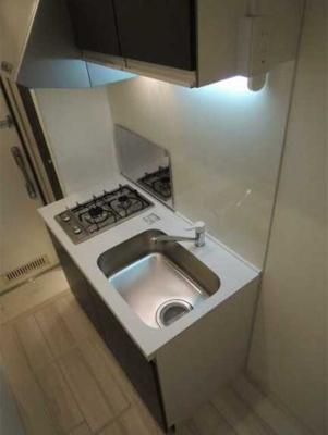 【キッチン】ラフィネ三軒茶屋 更新料0 独立洗面台 浴室乾燥機 南向き