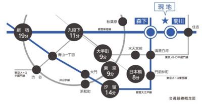 【地図】ルフォンプログレ菊川