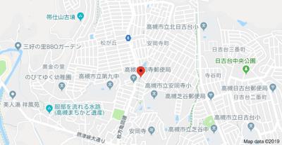 【地図】安岡寺1丁目2戸1貸家