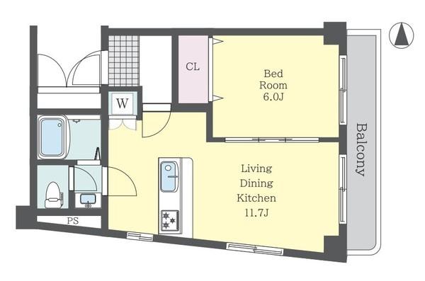 ■南東角部屋!! ■11.7畳の広々リビング! ■白を基調とした清潔感のあるお部屋です!