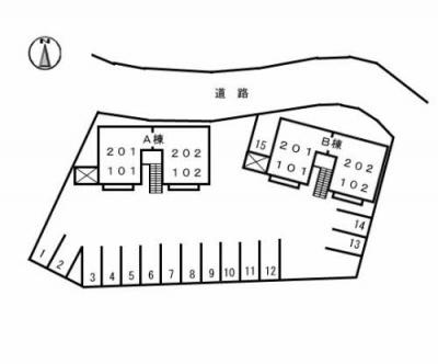 【区画図】ファミール一柳 B棟