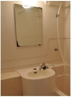 お掃除のしやすい3点ユニット・洗面台。