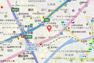 【地図】エスリード弁天町ベイコート