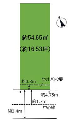 【区画図】浜甲子園2丁目 売土地