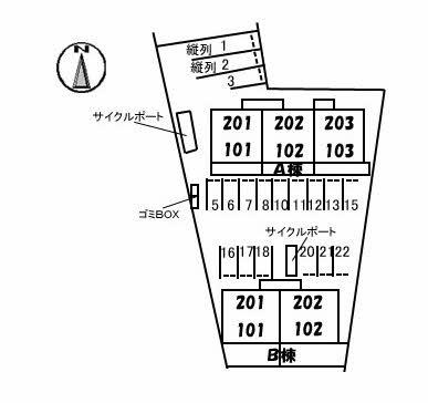 【区画図】シャーメゾン・ル・プレ A棟