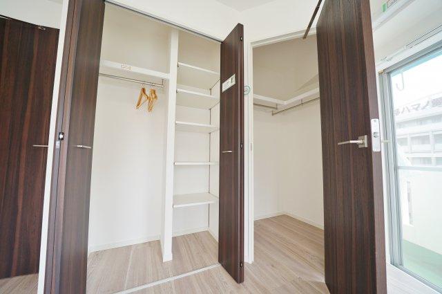 システム収納とWICでお部屋の空間を有効に使えます