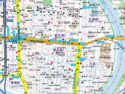 【地図】プリエ南森町