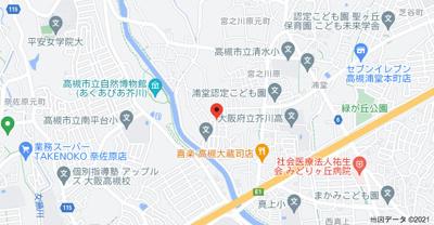 【地図】大蔵司2丁目貸家 (株)Roots