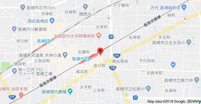 【地図】Dwell高槻 (株)Roots