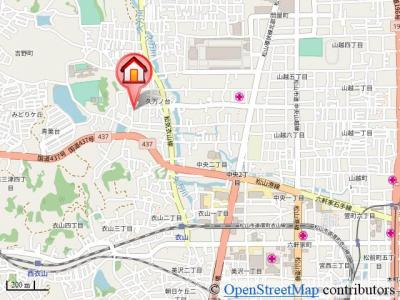 【地図】グリーンハイム A棟・
