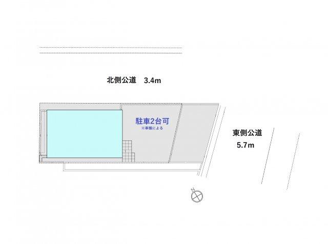 解放感ある角地!目の前には緑が広がりスカイツリーも望める4LDK+P!延べ床面積97.2㎡、主寝室は9帖超えです。外壁には18mmのサイディングを採用!