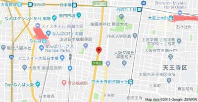 【地図】ピュア夕陽丘
