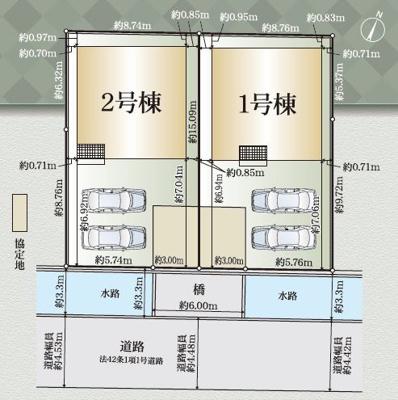 【区画図】焼津市大住 2期 新築一戸建て 1号棟 AN