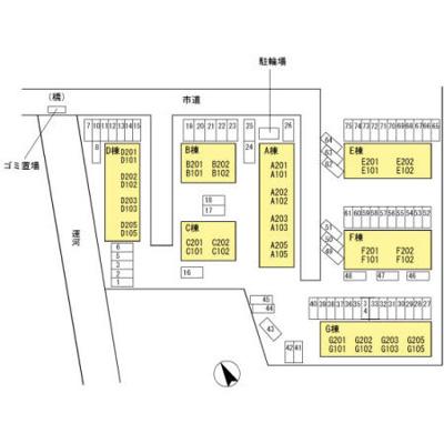 【区画図】アゼリアパークハウス G棟