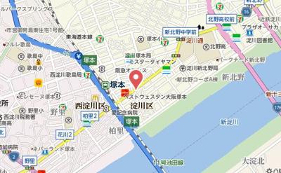 【地図】プロシード大阪西バロンドール
