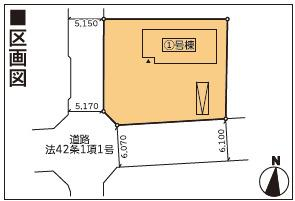 【区画図】新築建売 滝沢市大釜風林第4 1号棟