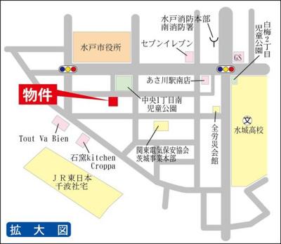 JR常磐線水戸駅まで徒歩約10分!