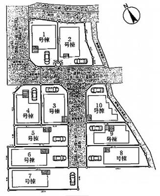 【区画図】クレイドルガーデン枚方市宗谷第1
