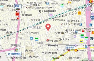 【地図】ルクレ新大阪レジデンス