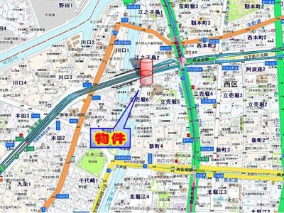【地図】ルクレ阿波座レジデンス