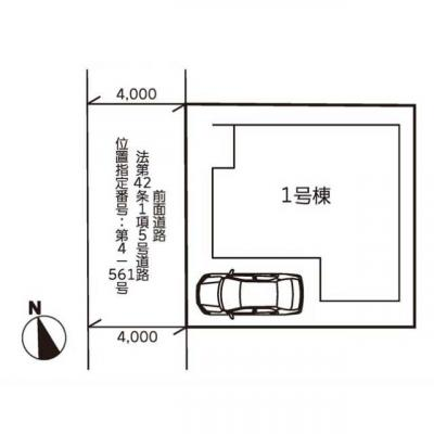 【区画図】リナージュ大東市深野21-1期