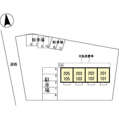 【駐車場】細谷駅 西矢島町 1LDK