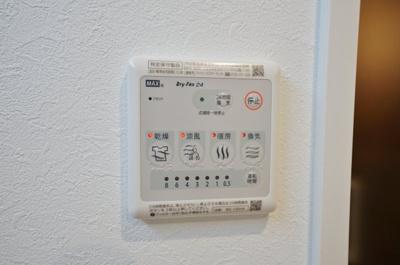 暖房付きなので、寒い日のシャワーも快適です。