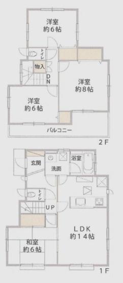 土地面積107.05平米、建物面積95.22平米~平成13年11月築、南向きの開放的な北西角地、全居室6帖以上のゆったりとした4LDK、