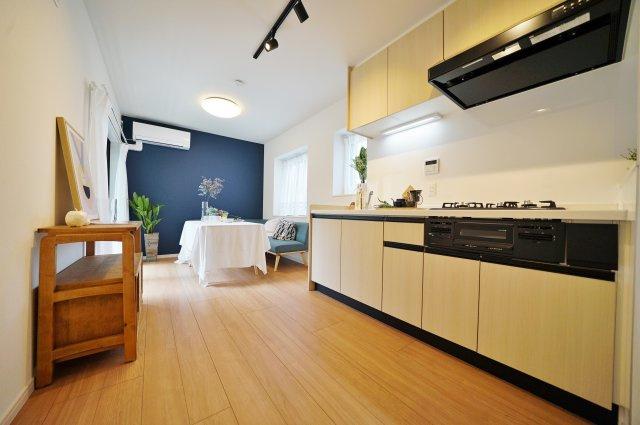 キッチンスペースは広く、お料理も楽しくなりますね。