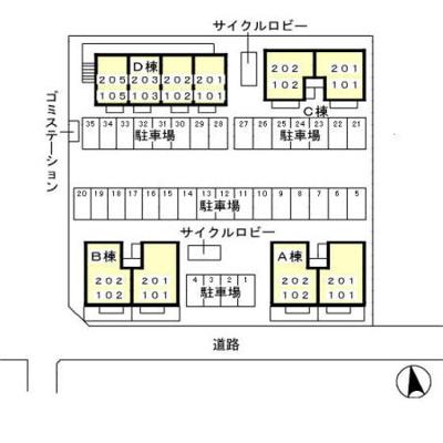 【駐車場】太田駅 新井町 2LDK