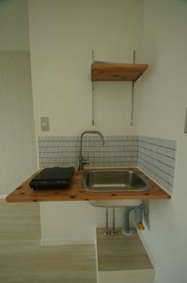 お掃除が楽々なIHキッチンです。