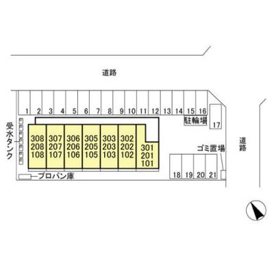 【駐車場】韮川駅 東新町 1R