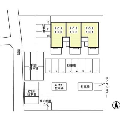 【駐車場】太田駅 鳥山下町 1LDK