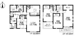 【間取り】平塚市入野 新築戸建 全6棟1号棟
