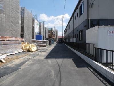 碧南市長田町新築分譲住宅前面道路は南側4.5mの共有道路に接道。