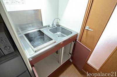 【キッチン】レオパレスサンブリッジⅣ