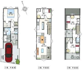 建物参考プラン(建物面積122.61平米・建物価格2800万円)