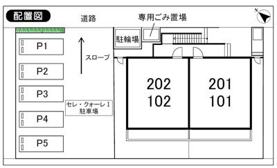 【区画図】セレ・クォーレ1駐車場