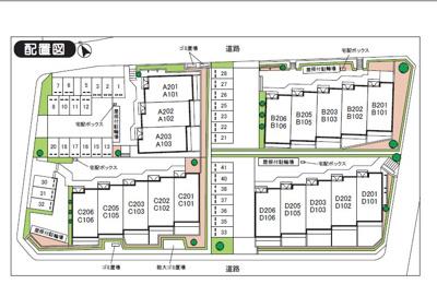 【区画図】オーチャード駐車場