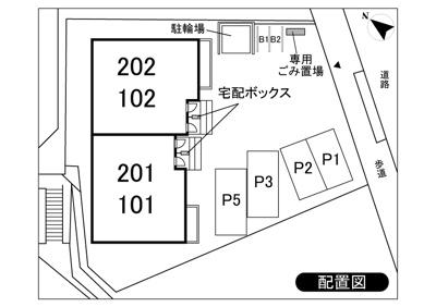 【区画図】シティハイム駐車場