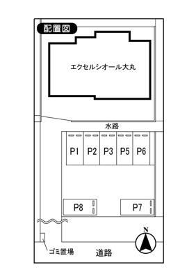 【区画図】川崎市高津区千年674-1駐車場