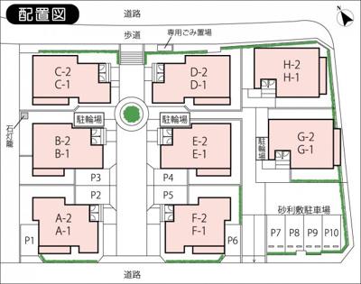 【区画図】プチ・ヴィラージュ駐車場