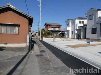 高浜市呉竹町2期新築分譲住宅前面道路は西側公道約2.8m