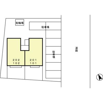 【駐車場】竜舞駅 飯塚町 1LDK